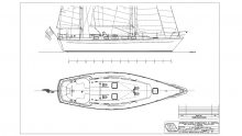 Berryer Design Cruising Ketch Drawing