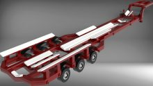30 Ton bunk trailer design for Hostar Marine Transport to move a 55' Riverine Patrol Craft