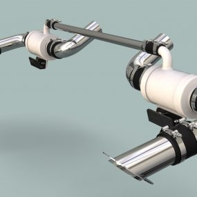 Exhaust system with resonators and balance tube designed to fit 1990 Four Winns 200 Horizon