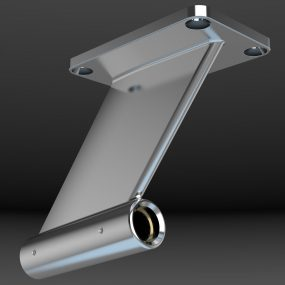 Custom fabricated strut design which can be configured for a variety of installations.